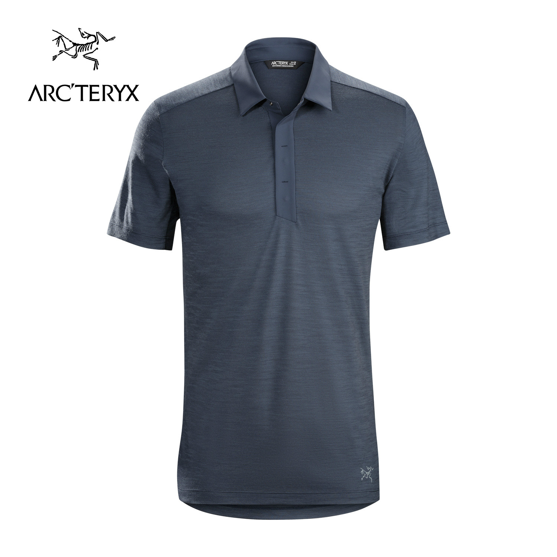 ARCTERYX-始祖鸟男款户外短袖休闲羊毛Polo衫A2B Polo SS 17216