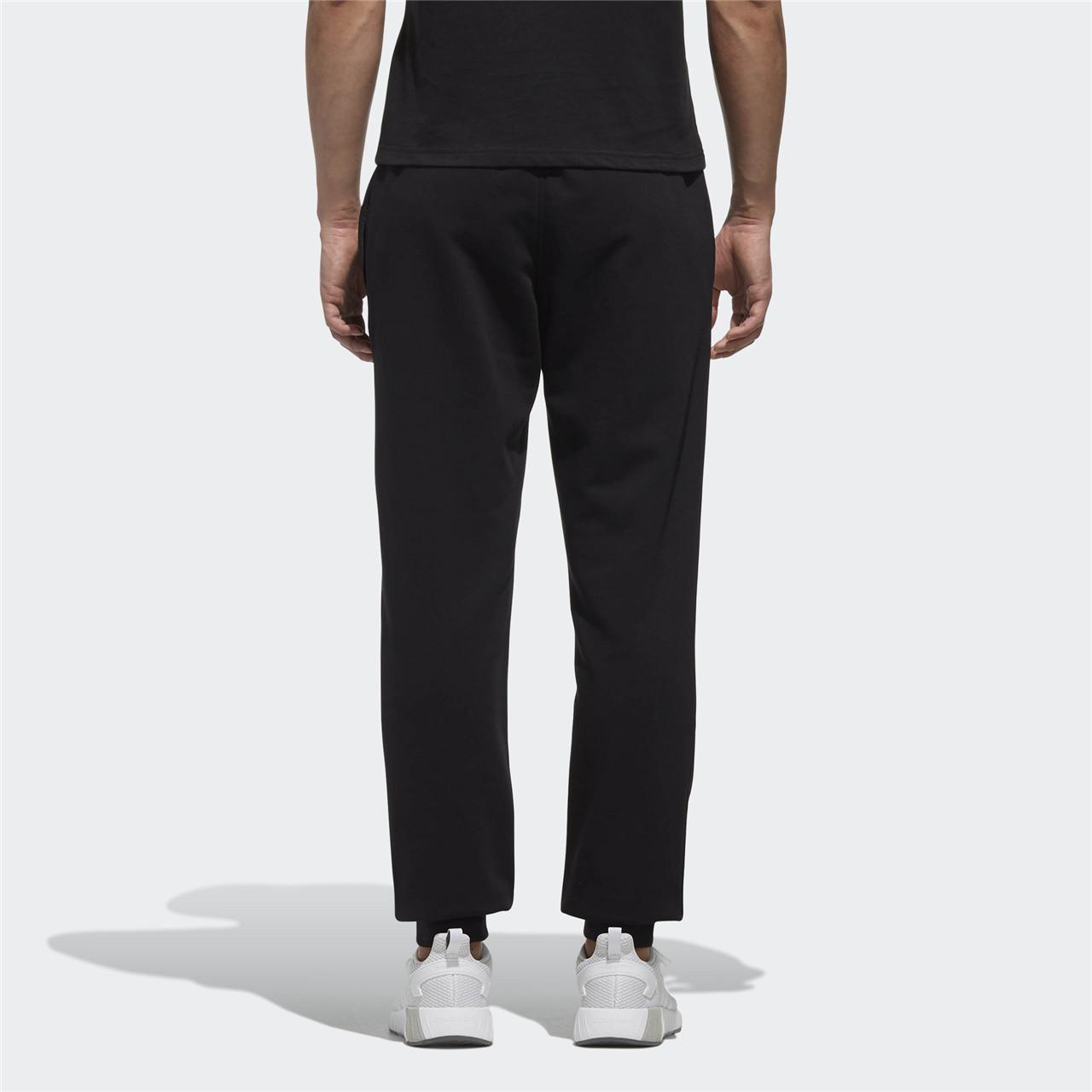 Adidas阿迪休闲男子长裤抽绳小腿字母logo针织运动束脚长裤DM4277