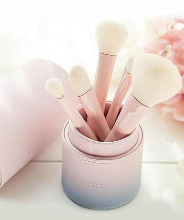 美丽工匠 化妆刷套装初学者8支全套化妆工具带收纳筒彩妆刷子