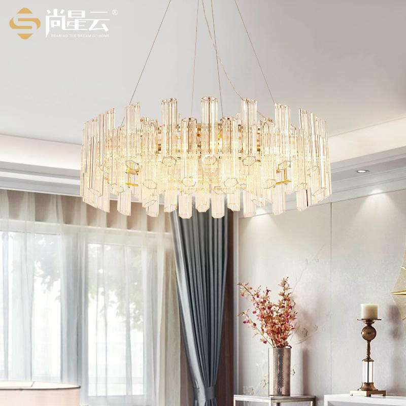 尚星云 玻璃吊灯轻奢后现代创意设计师风格客厅餐厅鱼线吊灯具