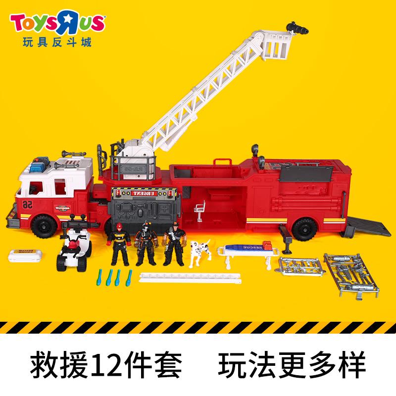 玩具反斗城轰天勇将系列救援救火消防车男孩汽车大卡车玩具62243