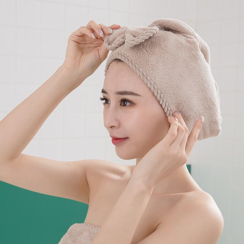 干发帽擦头巾包头发的吸水速干毛巾浴帽可爱儿童少女洗头神器bg型