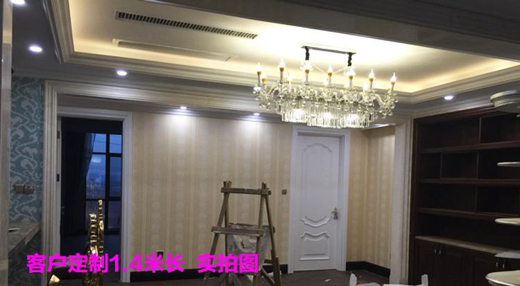 水晶吊灯欧式餐厅长方形蜡烛水晶灯奢华客厅灯进口灯