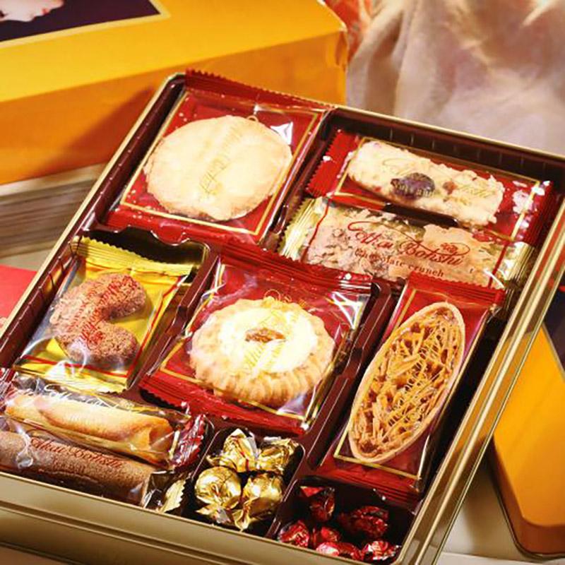 【中粮海外直采】红帽子黄色什锦饼干礼盒136g(日本进口 盒)