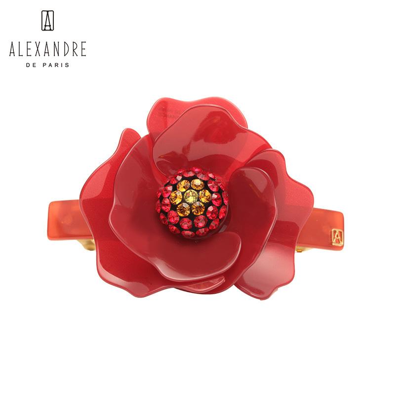 法国Alexandre De Paris喜悦系列8公分发夹马尾夹发饰