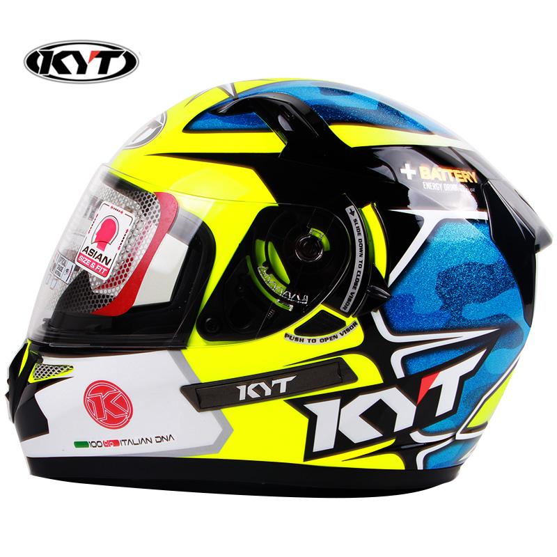 KYT头盔K2摩托车头盔GP赛道盔 双镜片骑行安全头盔全盔机车头盔冬
