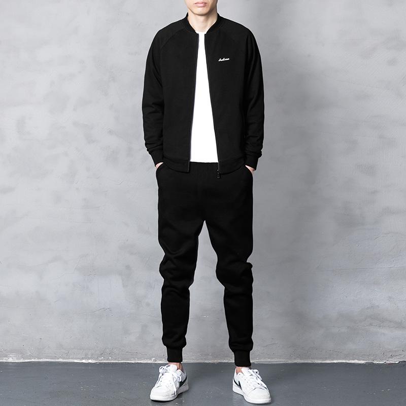 卫衣套装男秋季开衫外套2018新款韩版潮流春秋款休闲装运动两件套