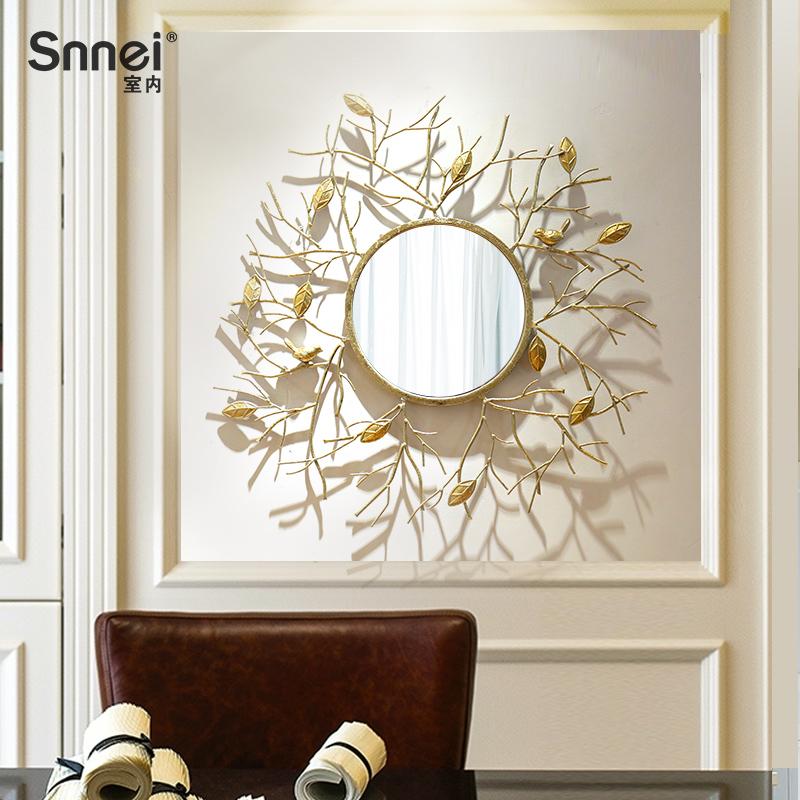 创意loft家居装饰壁挂装饰镜 欧式立体铁艺沙发背景墙面壁饰