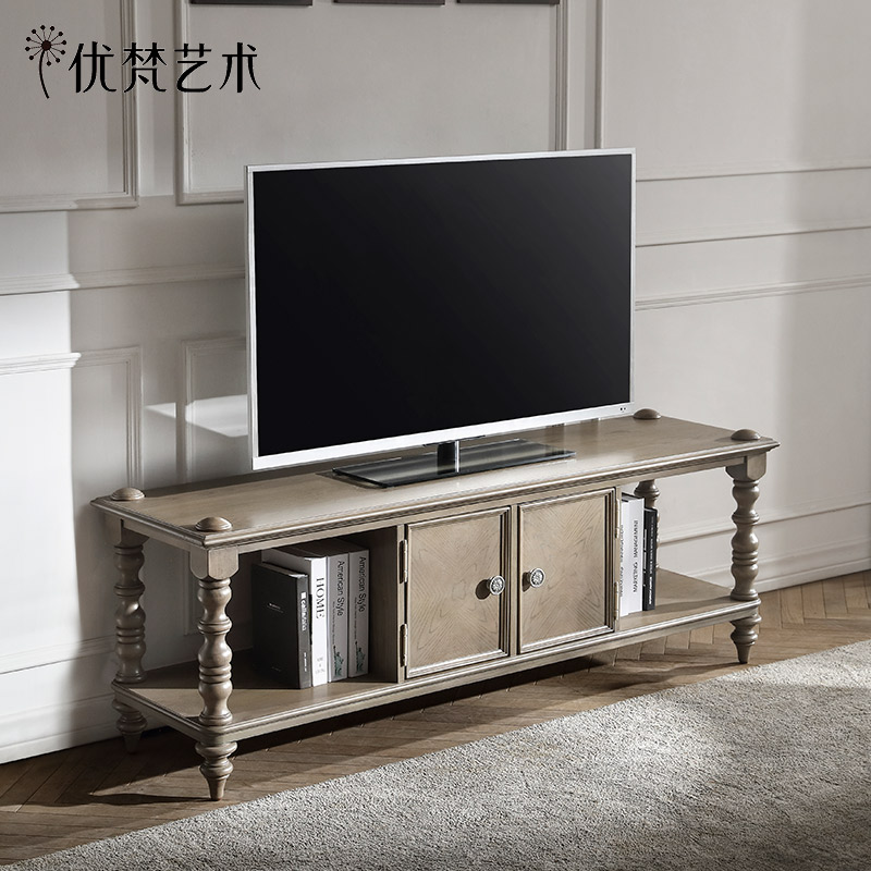 优梵艺术 Trunk美式电视机柜子储物客厅地柜复古做旧小户型影视桌