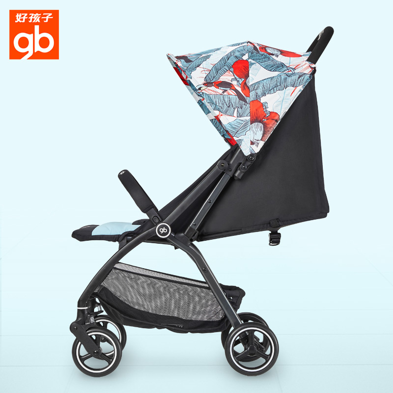 Gb good boy stroller stroller can sit reclining baby stroller front wheel shock absorber umbrella light folding on the plane