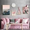 北欧风格装饰画客厅沙发背景墙画现代简约火烈鸟ins挂画餐厅壁画