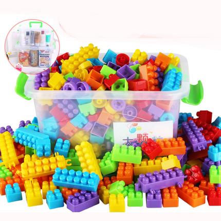 积木拼装玩具益智幼儿园4岁男孩女孩儿童创意拼插塑料大颗粒积木