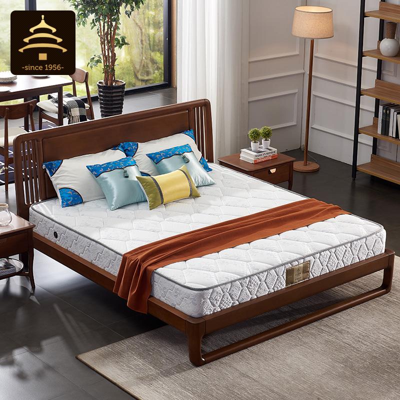 天坛家具席梦思床垫20cm厚偏硬1m1.2米单人1.5m1.8米双人弹簧床垫