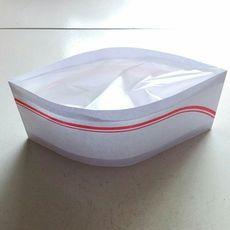 Защитные приспособления для головы 一次性厨师帽/纸帽子/纸质低帽/红边厨师帽/矮帽船帽100只装