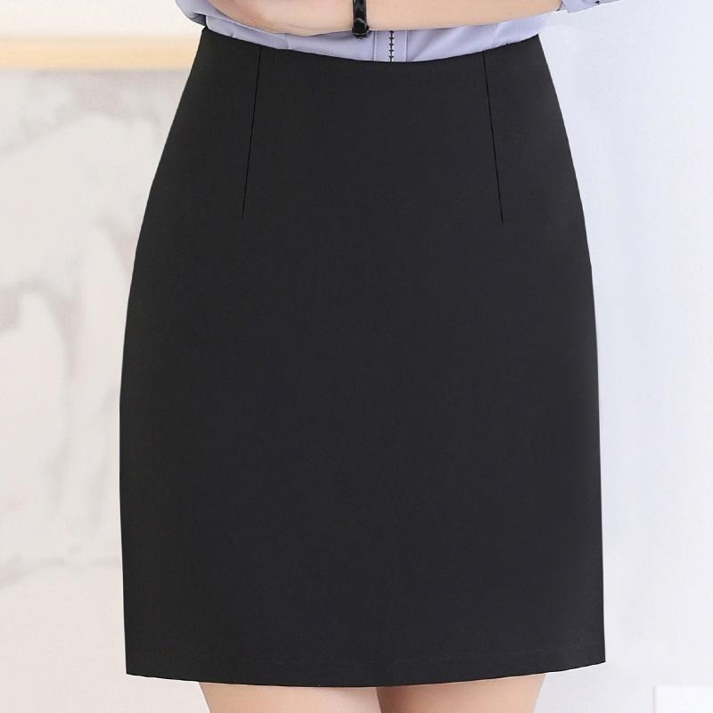 实拍夏装防走光短裙包裙职业包臀裙工作裙面试裙正装裙