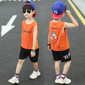 儿童男童夏装套装韩版背心短裤夏季帅气两件套2020新款中大童潮衣