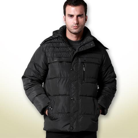 中老年男装冬装 男式加厚款上衣男士棉衣