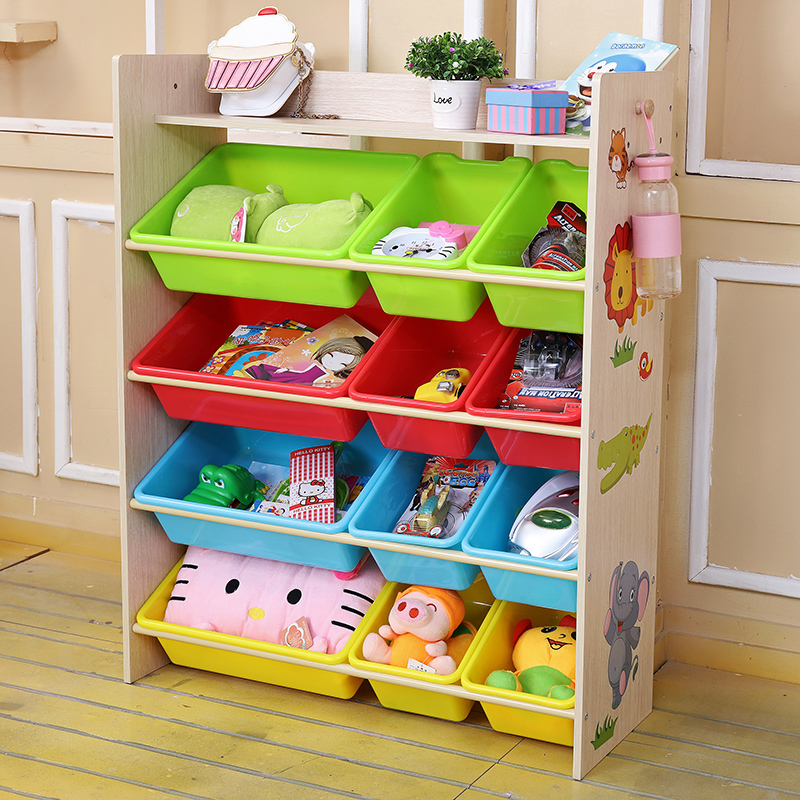Childrenu0027s Toy Shelf Shelf Multi Layer Storage Shelf Kindergarten Simple  Plastic Storage Finishing Storage Cabinet Box