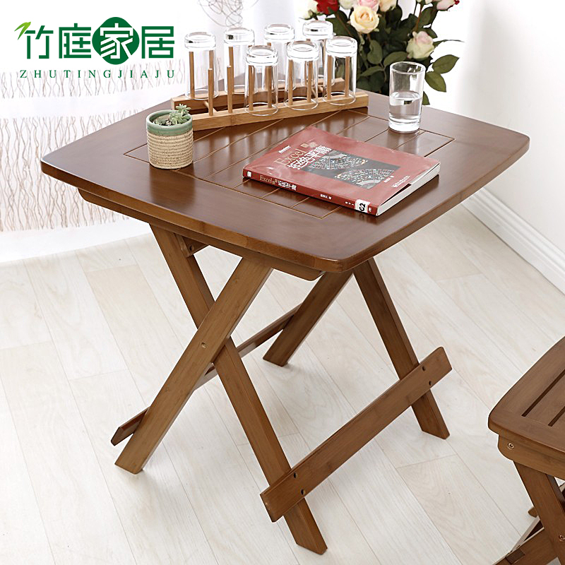Bamboo court leisure table folding square table portable folding table dining table bamboo dining table simple square table small folding table