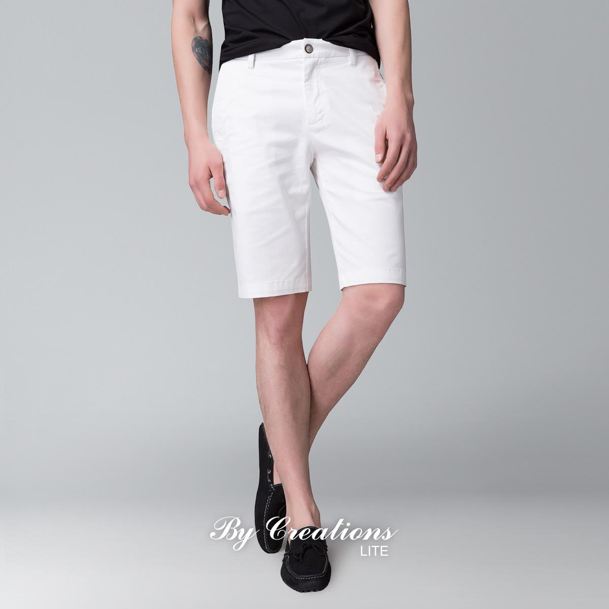 ByCreations Lite 柏品 男士微弹棉质修身休闲裤 五分裤短裤