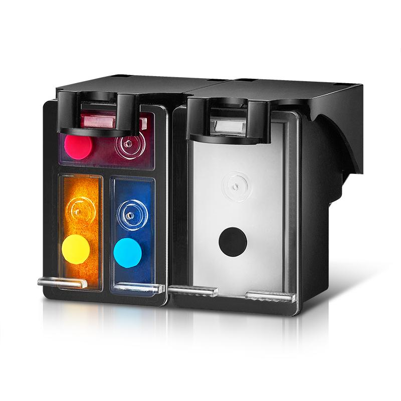 兰博适用惠普HP802墨盒1000 1010 1050 1510 2050连喷易加墨墨盒 deskjet打印机HP1010黑色 彩色墨盒