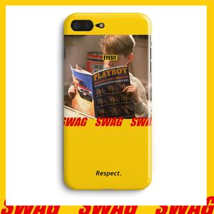 原创意恶搞小男孩iPhone7plus苹果x黄色壳6s手机壳8全包保护套潮
