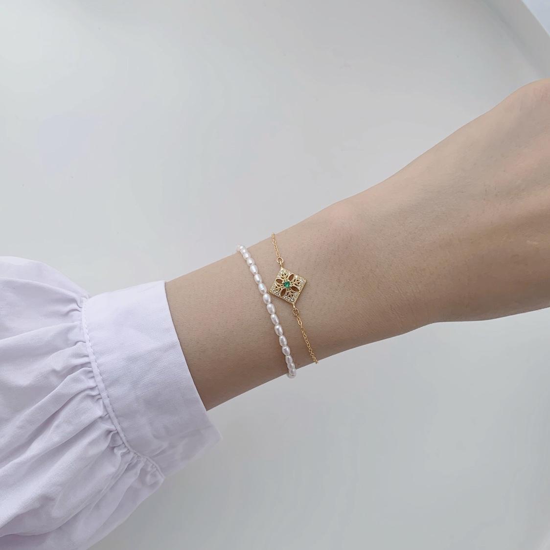 巴洛克珍珠手链一条
