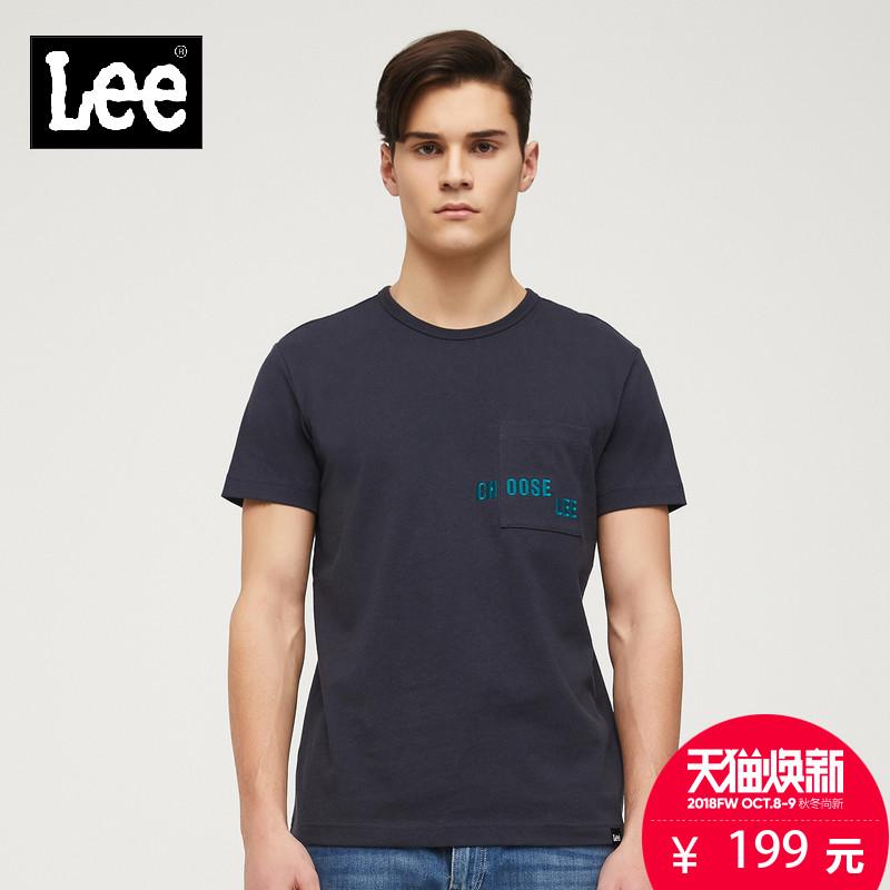 男装 2018春夏深蓝色短袖T恤L300783GZ6RR