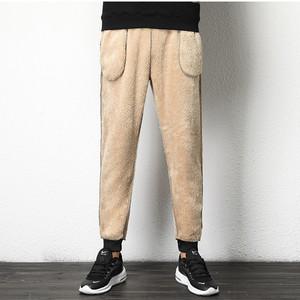冬季加绒运动裤男土休闲裤保暖羊羔绒小脚裤子男韩版潮流加厚卫裤