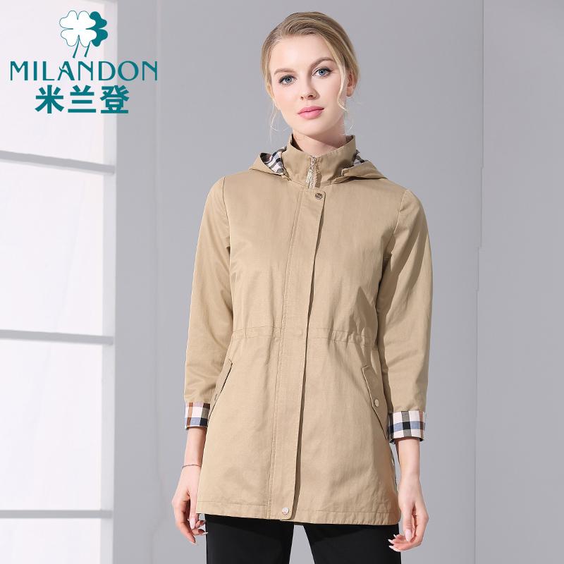 米兰登中老年妈妈秋冬装气质休闲宽松外套中长款大码上衣WJ140004