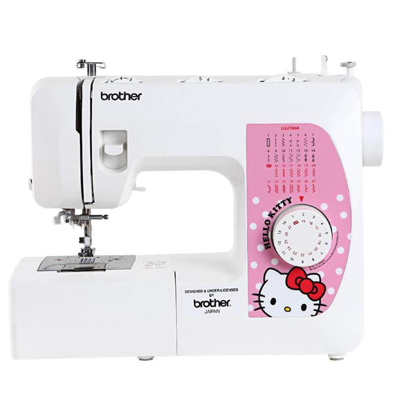 旗舰店正品 兄弟缝纫机KITTY定制版GS2786K家用电动多功能缝纫机