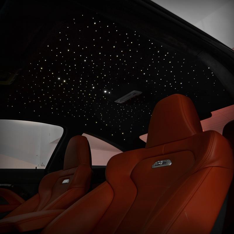 Thermonuclear Custom Car Star Roof Modified Starlight Top Decoration Alcantara Flip Fur