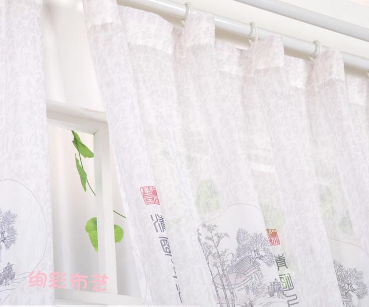 Декоративная ткань Цинмин рис высокосортный занавес классический экран окне ден гостиной белая пряжа Китай ветер элегантный специальные оптовые акции