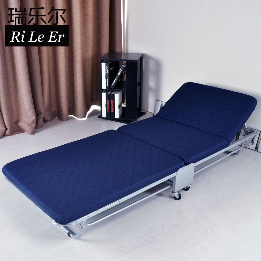 瑞乐尔 办公室午睡床 二折简易折叠床单人午休R2107