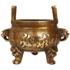 聚缘阁风水纯铜香炉摆件有求必应双耳大小号薰香炉财神檀香线香炉