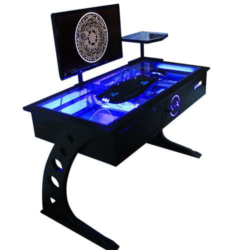 Прозрачный компьютерные столы.