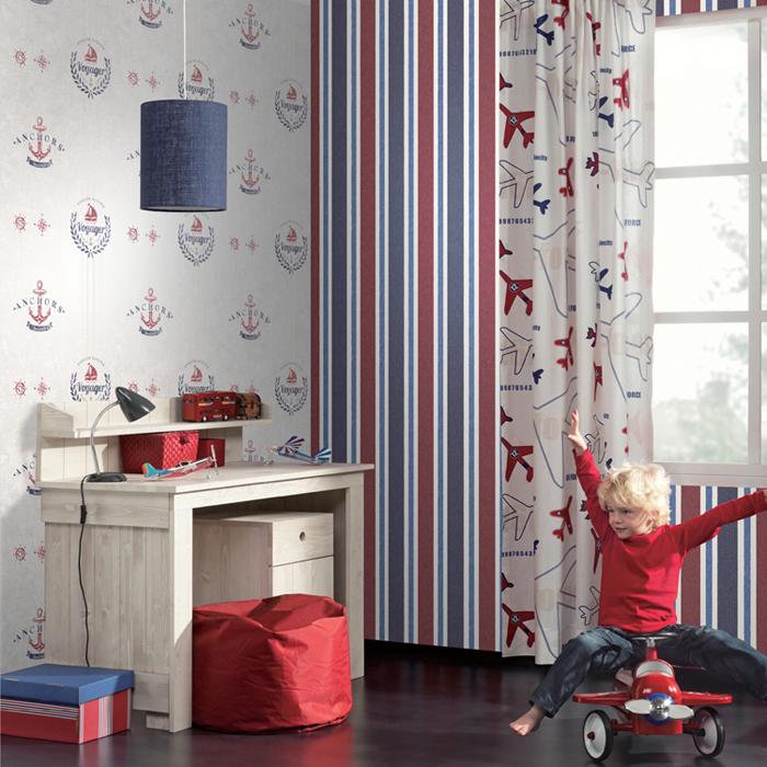 米冠英伦风格儿童房壁纸4215