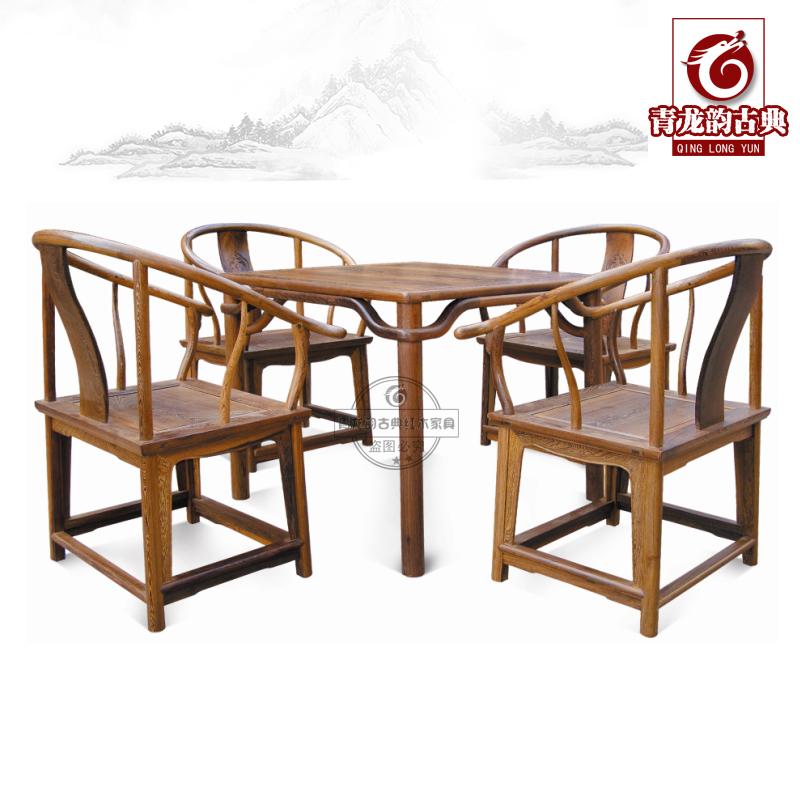 青龙韵鸡翅木茶桌椅红木茶道桌TZ10