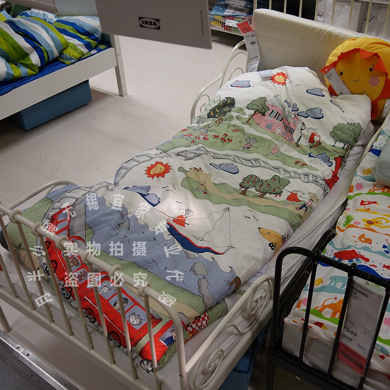 Wuxi purchase IKEA IKEA wudelieke duvet cover pillowcase train for children fairy tales 70264356