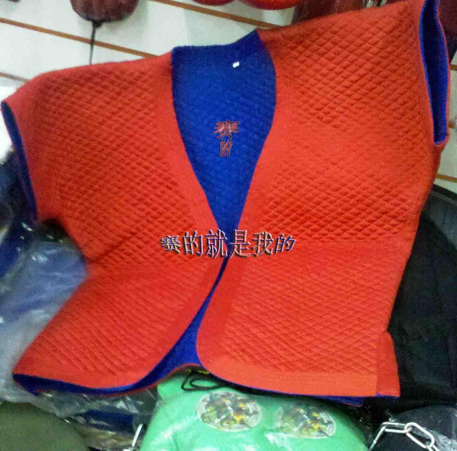 Форма для борьбы Пекин МЛМ профессиональная спортивная одежда/традиционная борьба одежды борьба одежда традиционные 褡裢 синего и красного на обеих сторонах можно носить