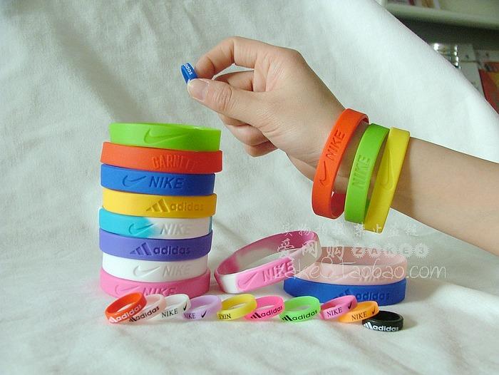 Купить браслет резиновый найк