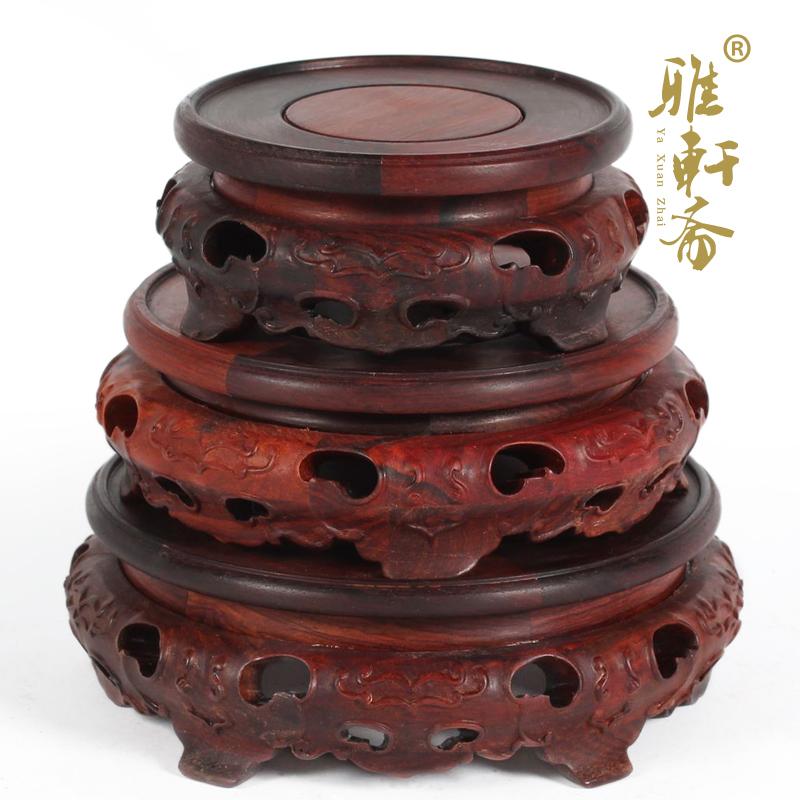 a雅轩斋红木雕工艺品红酸枝木蝙蝠底座2012060805