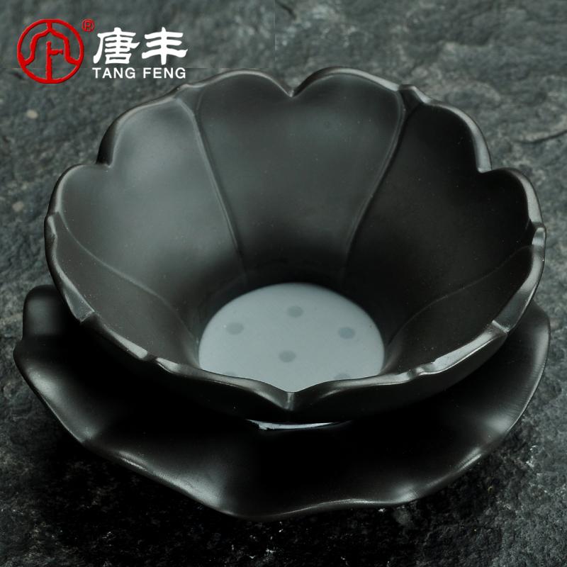 唐丰原矿紫砂茶漏泥茶漏