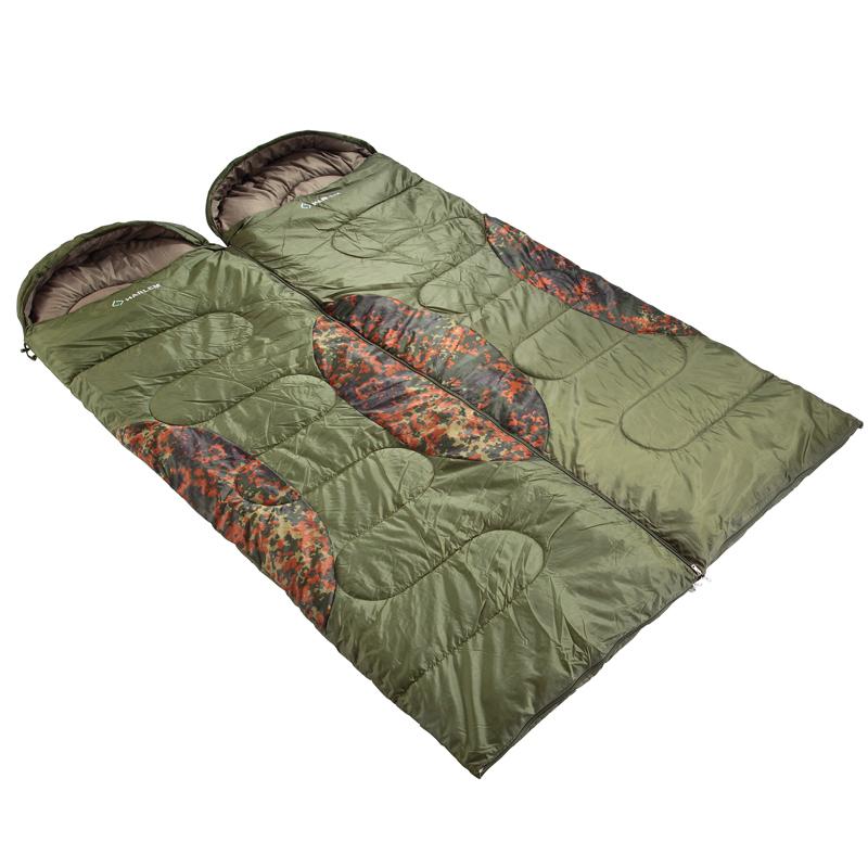 包邮 迷彩户外睡袋 春秋保暖睡袋 超轻午休成人睡袋 可拼双人睡袋