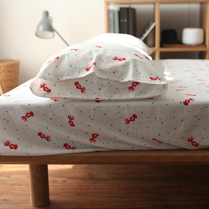 castlegarden复古和风斜纹纯棉床笠+枕套0
