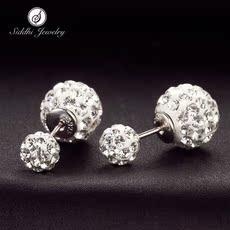 熙帝925银耳钉女三种戴法耳环防过敏日韩版耳饰品女友情人节礼物