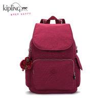 Kipling凯浦林16秋季新款女包旅行双肩背包K12147红莓色