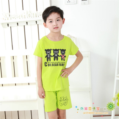 Children's clothing wholesale factory direct kindergarten 2018 summer new children's sports suit bear short-sleeved suit
