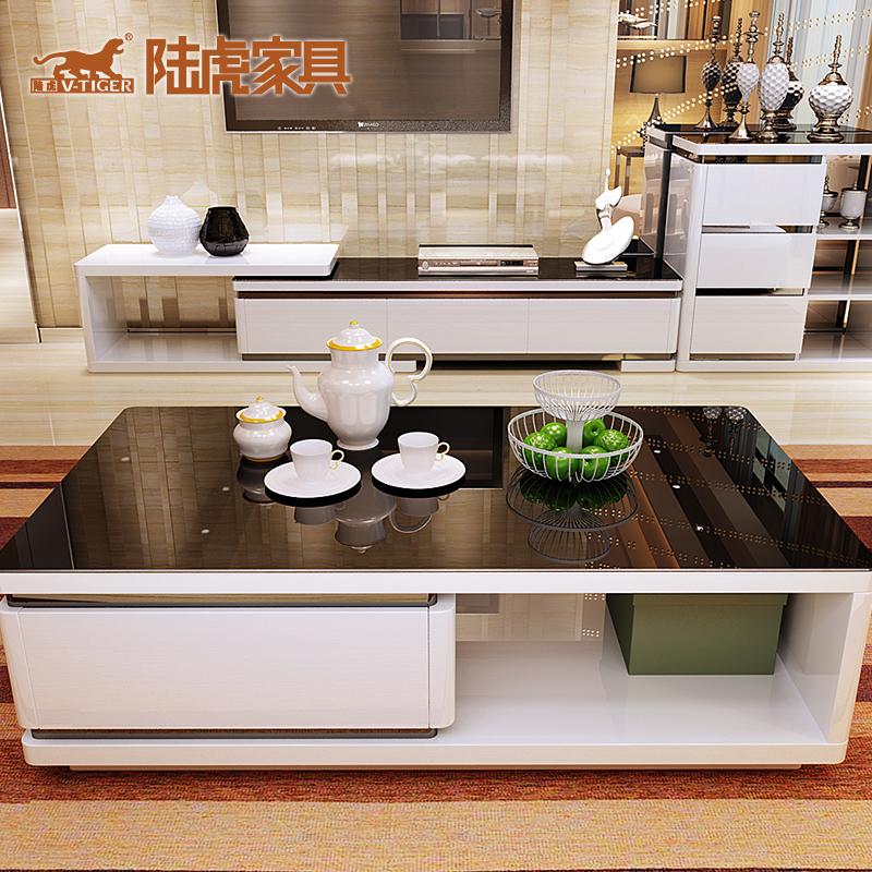 陆虎钢化玻璃茶几LH-779A