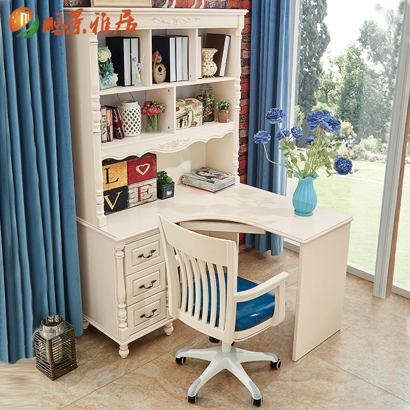 鹏景雅居美式转角书桌V72